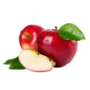 ใช้ผลไม้ไหว้แม่ย่านางรถด้วยแอปเปิลสีแดง